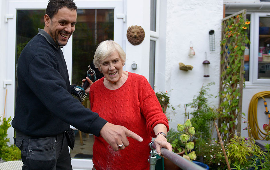 we care home improvements accessible garden rails older disabled person